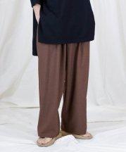 Iroquois_REFLAX WEATHER CLOTH WIDE PT_BRN