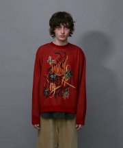 Iroquois_A MILLION FACES AT MY FEET KNIT_RED