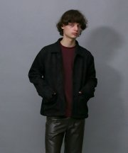 <img class='new_mark_img1' src='https://img.shop-pro.jp/img/new/icons1.gif' style='border:none;display:inline;margin:0px;padding:0px;width:auto;' />IroquoisIroquois_TECH KNIT SUEDE JK_BLK