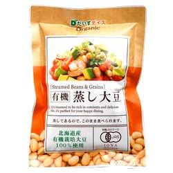 北海道産有機蒸し大豆 100g