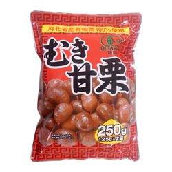 タクマ食品 有機むき甘栗 250g(125g×2袋入)