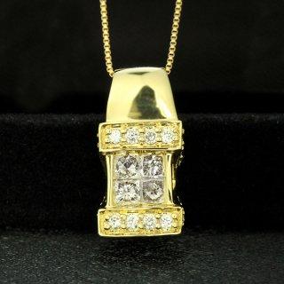 ダイヤモンド ネックレス 0.5ct K18 イエローゴールド 鑑別書付 保証書付 インポート ギフト プレゼント 地金 たっぷり ボリューム