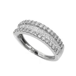 ダイヤモンド リング 1カラット Pt900 プリンセスカット ダイヤモンド 鑑別書付 保証書付 インポート
