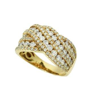 ダイヤモンド リング K18ピンクゴールド 1.5ct 鑑別書付 保証書付 インポート 幅広 ボリューム