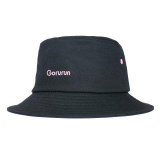 OG ロゴ バケットハット / ブラック × ゴルランピンク