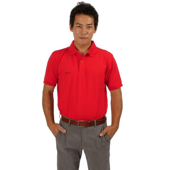 ベーシックスタイル TC鹿の子 ポロシャツ / レッド
