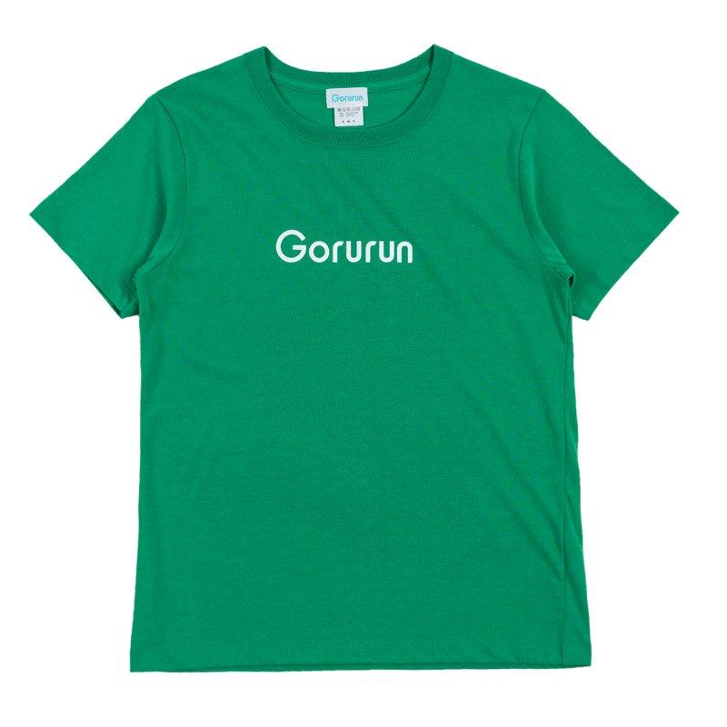 ハイブリッド クルーネック ロゴ Tシャツ / グリーン