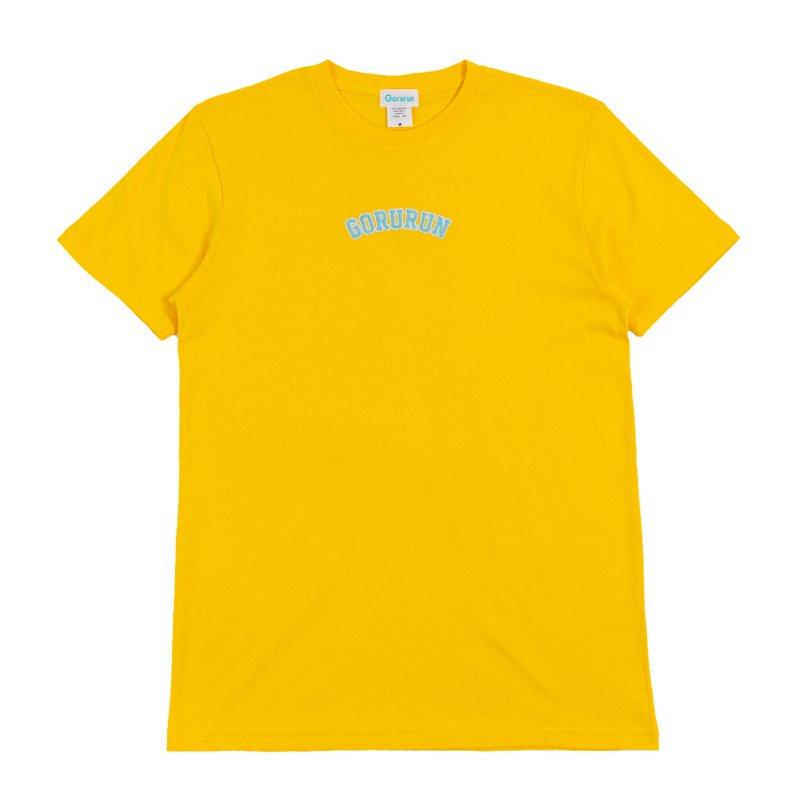 アーチロゴ ステッチ Tシャツ / イエロー