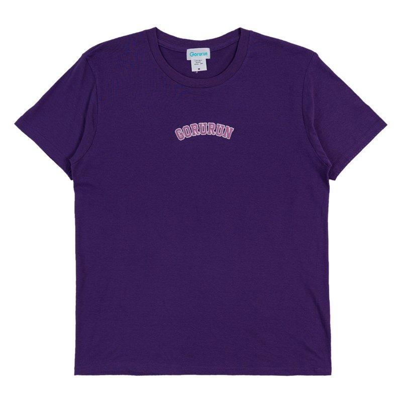 アーチロゴ ステッチ Tシャツ / パープル