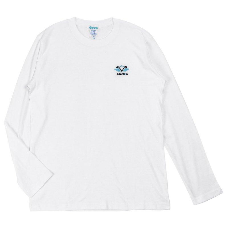 アルバトロス 刺繍ロゴ L/S Tee ホワイト
