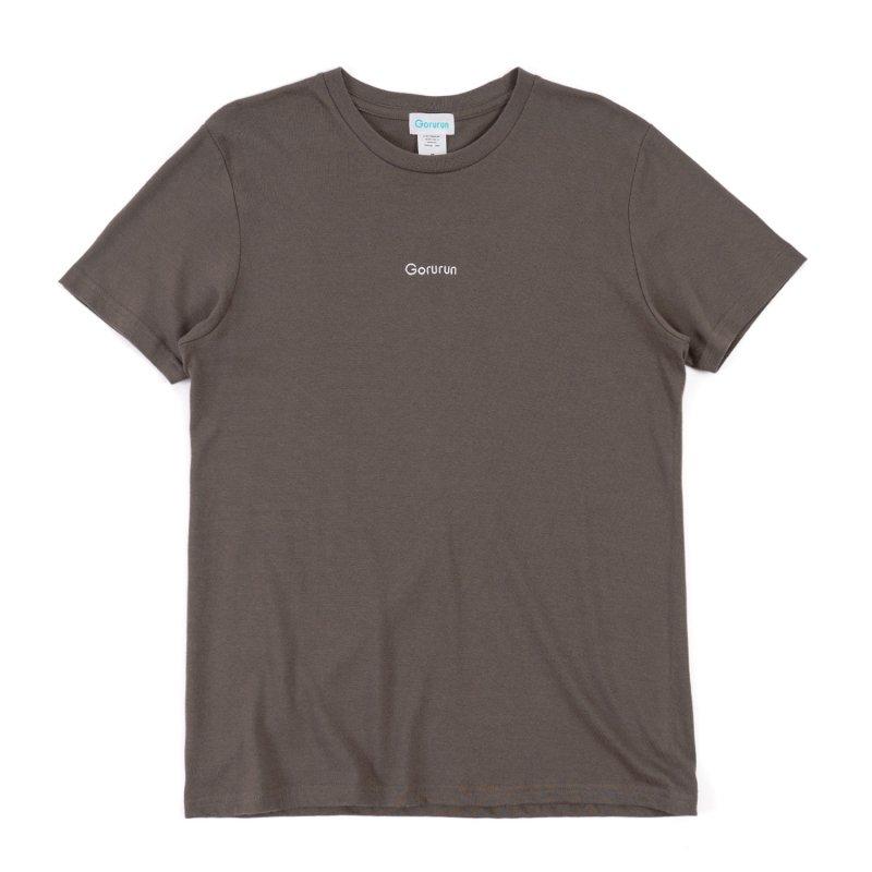ロゴ刺繍 スタンダート Tシャツ  / チャコール