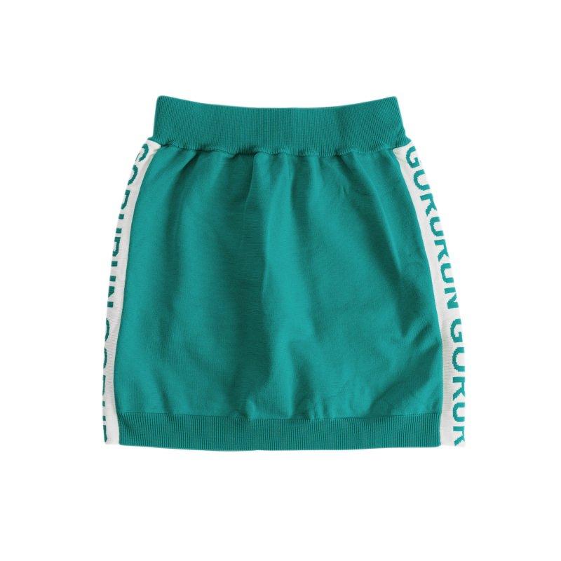 【レディース】サイド ロゴニット スカート / ごるらんブルー