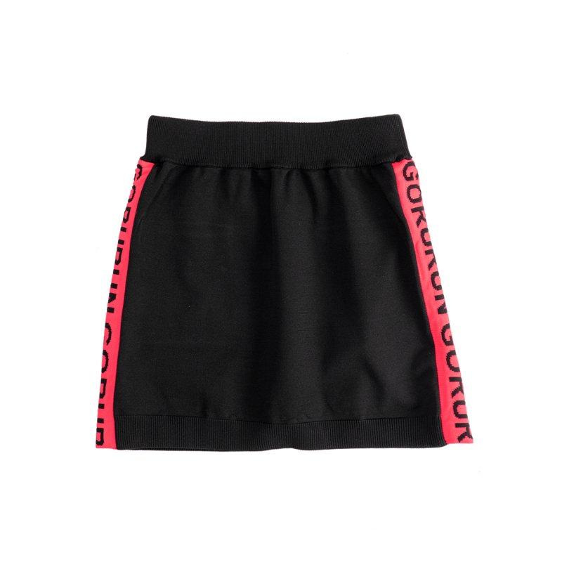 【レディース】サイド ロゴニット スカート / ブラック