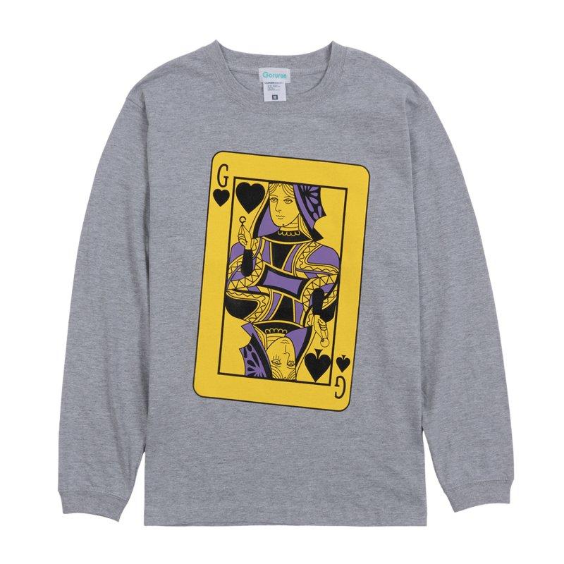 Gorurun カード・クイーン L/S Tee / グレー
