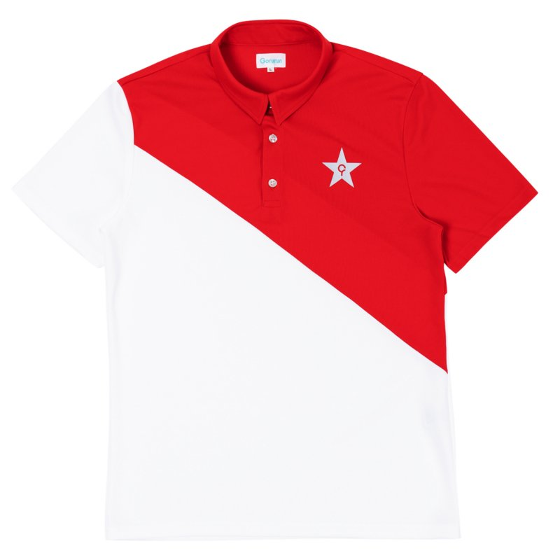Gorurun NANAME Cut ポロシャツ / レッド