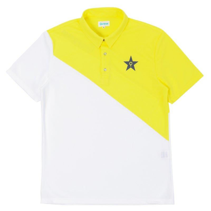 Gorurun NANAME Cut ポロシャツ / イエロー