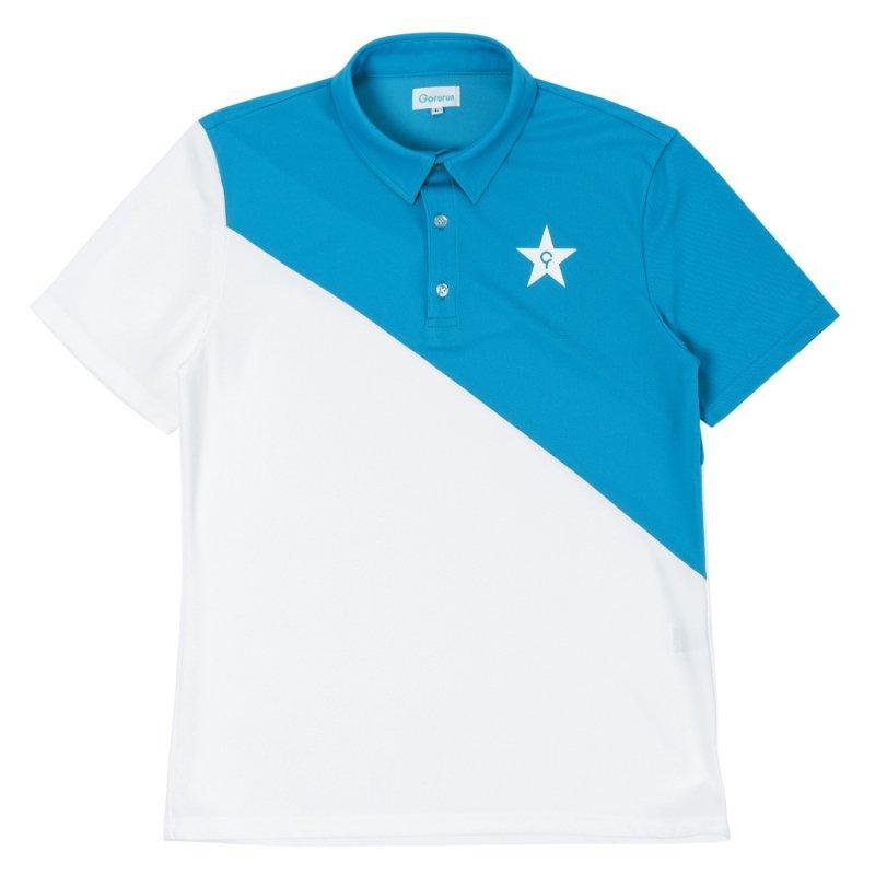 Gorurun NANAME Cut ポロシャツ / ブルー