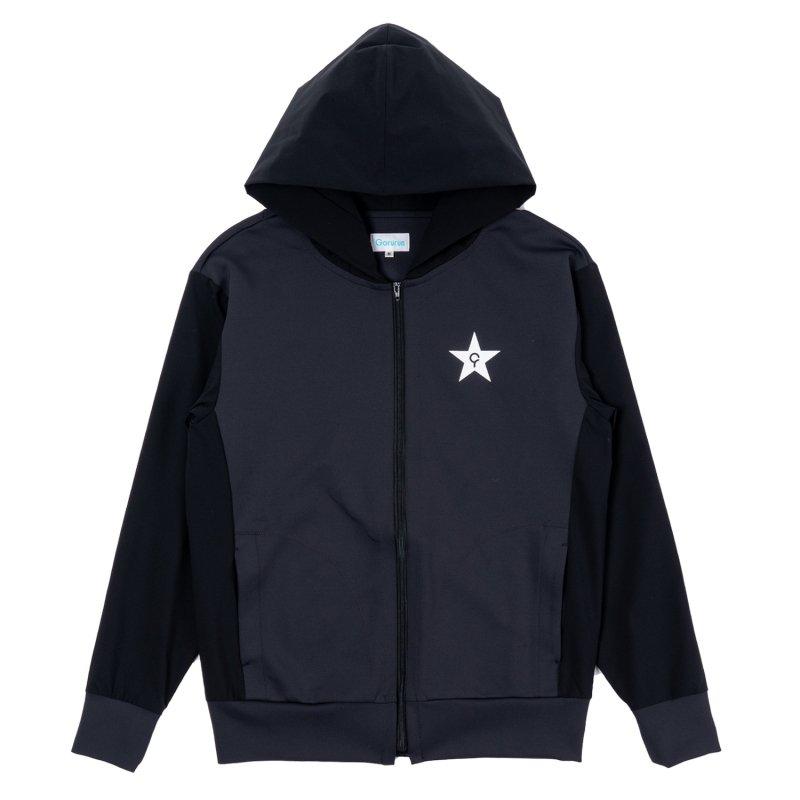 Gorurun スムースリラックス Zipフード / ブラック