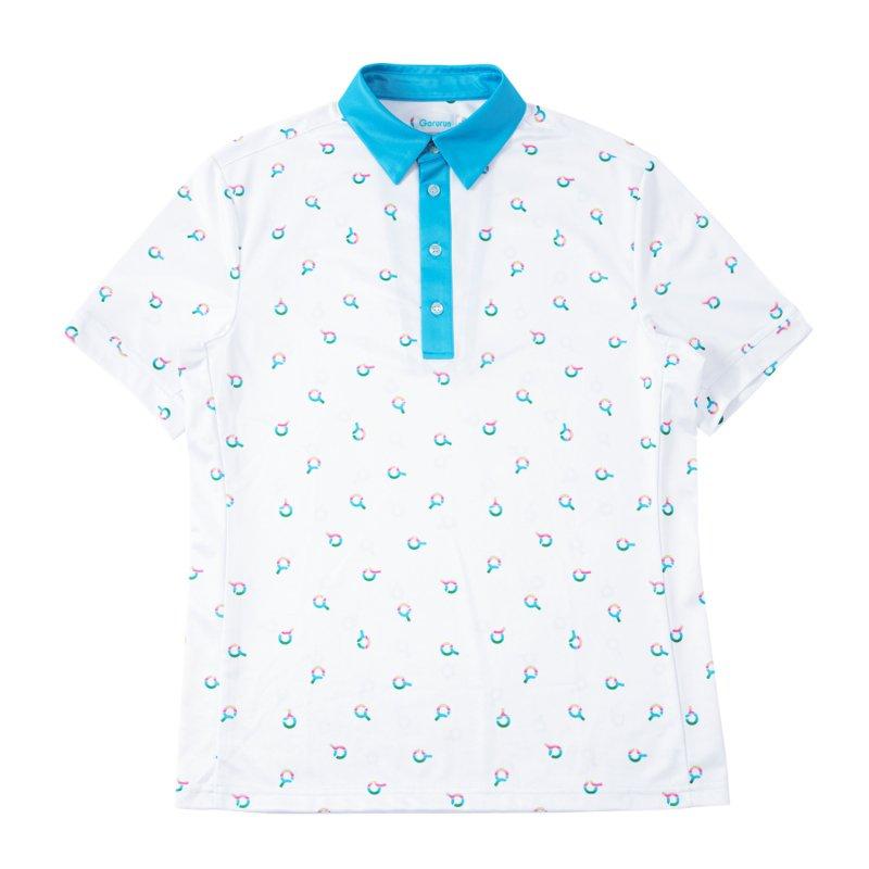 Gorurun レインボー エンブレム ポロシャツ / ごるらんブルー