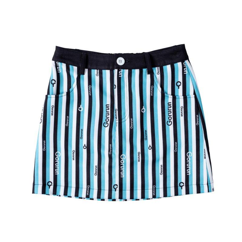 【レディース】Gorurun クールストライプ カラー スカート / ごるらんブルー