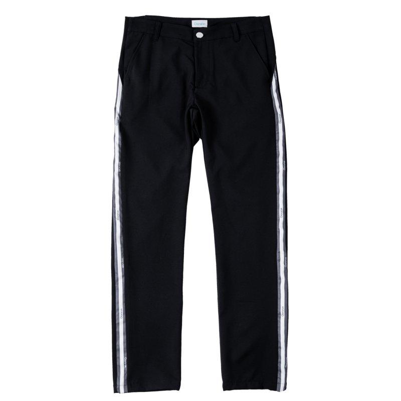 Gorurun サイド ライン パンツ / ブラック