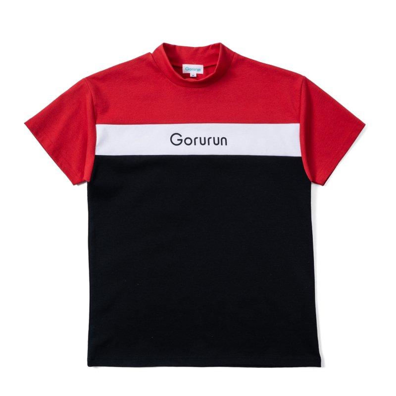 Gorurun トリオモックネック Tシャツ / レッド