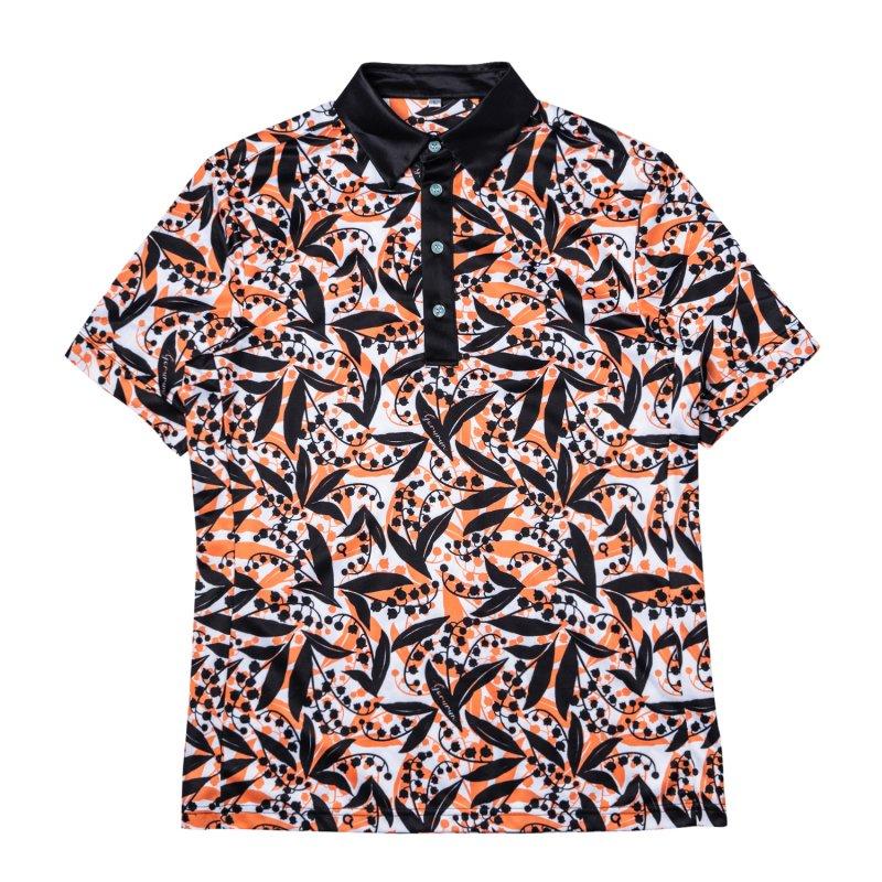 Gorurun リリーベル ポロシャツ / オレンジ