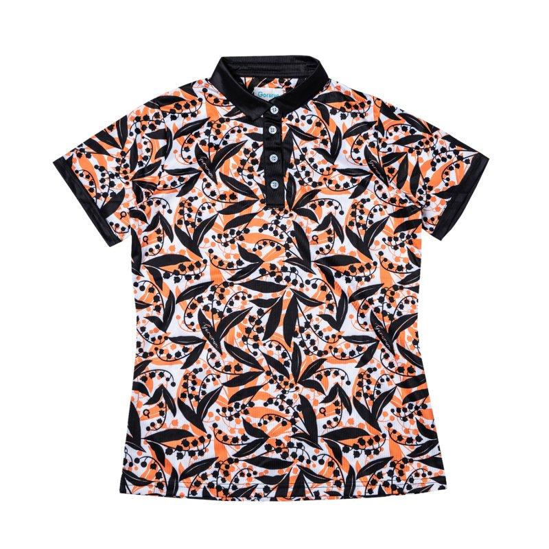 【レディース】Gorurun リリーベル ポロシャツ / オレンジ