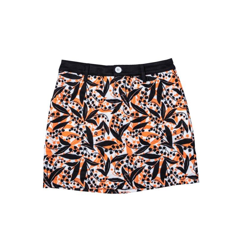 【レディース】Gorurun リリーベル スカート / オレンジ