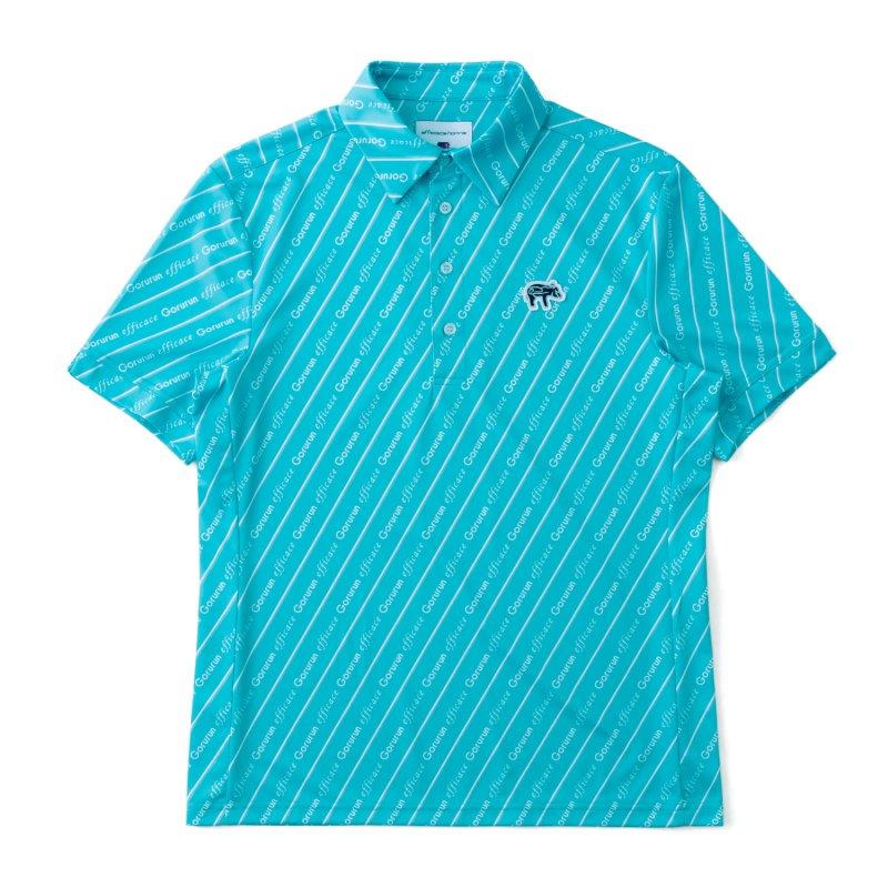 Gorurun x efficace ブルーデライト ポロシャツ / ごるらんブルー