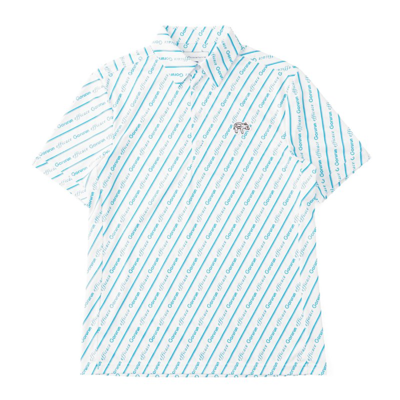Gorurun x efficace ブルーデライト ポロシャツ / ホワイト