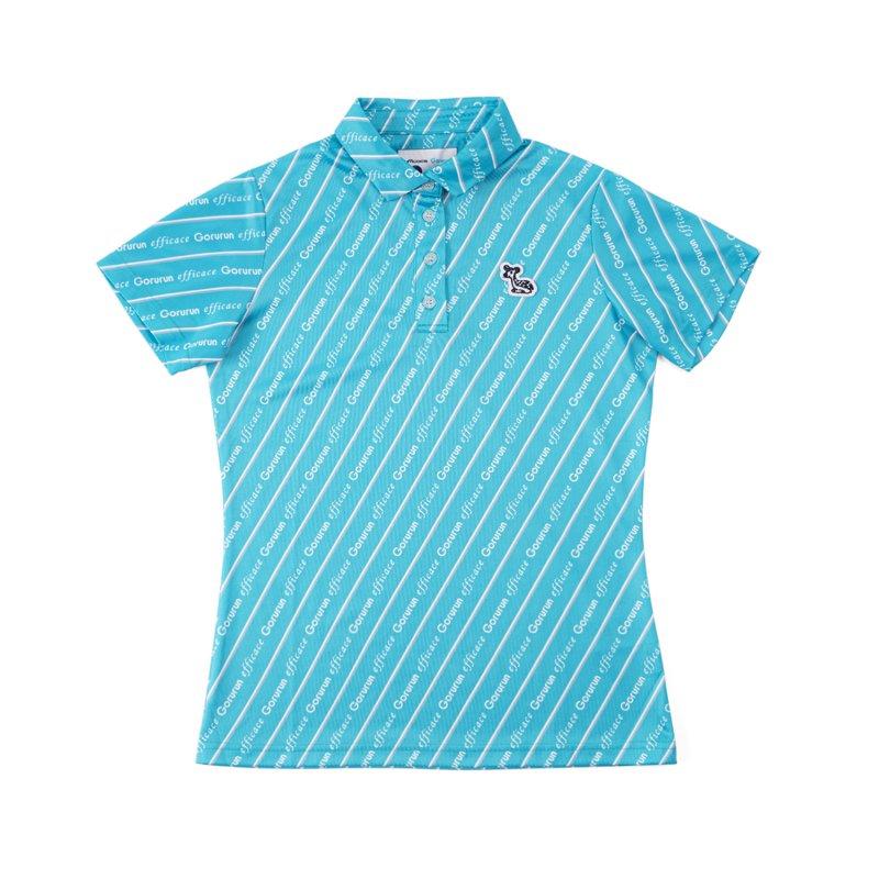 【レディース】Gorurun x efficace ブルーデライト ポロシャツ / ごるらんブルー