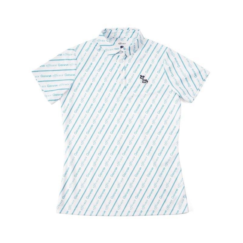 【レディース】Gorurun x efficace ブルーデライト ポロシャツ / ホワイト