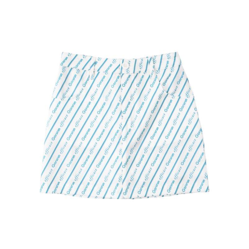【レディース】Gorurun x efficace ブルーデライト スカート / ホワイト