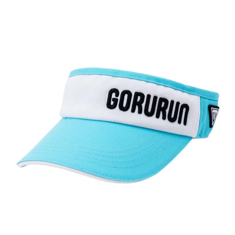 Gorurun トライアングルロゴ サンバイザー / ごるらんブルー