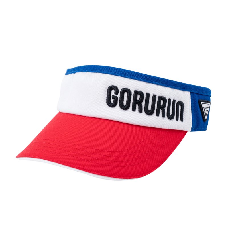 Gorurun トライアングルロゴ サンバイザー / ネイビー系MIX