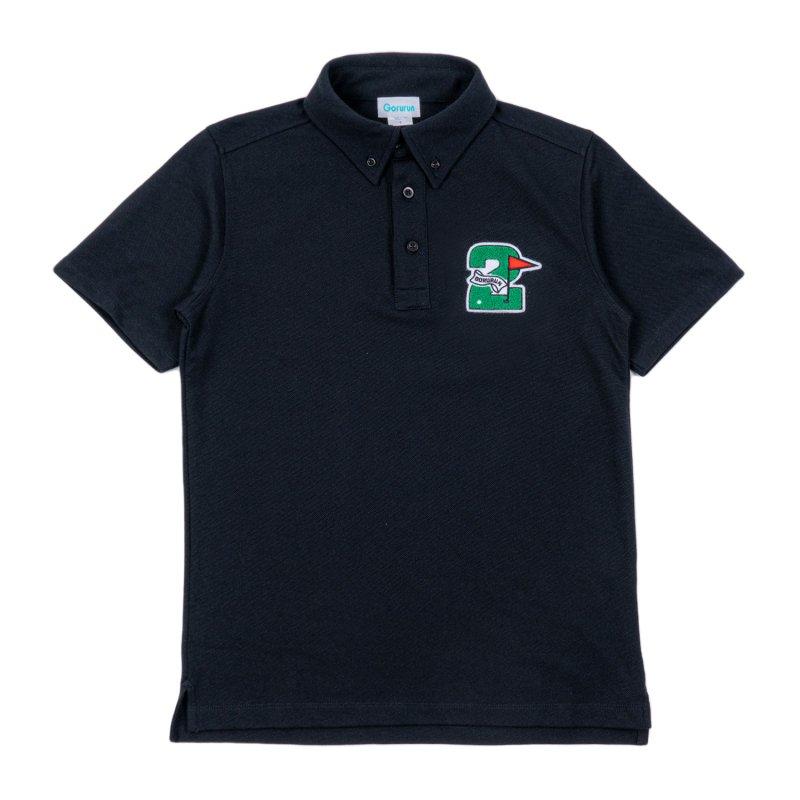 Gorurun セカンドフラッグ ポロシャツ / ブラック