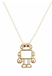【ALIITA】アリータ ネックレス《PURA》ROBOT ZAFIRO BLUE ブルーサファイア ロボット