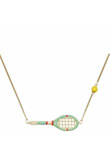 【ALIITA】アリータ ネックレス《SCIENTIFIC MATCH POINT》イエローゴールド テニスラケット&テニスボール