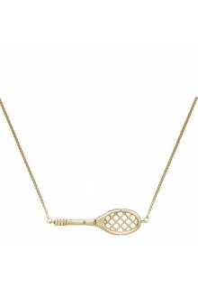 【ALIITA】アリータ ネックレス《SCIENTIFIC MATCH POINT》イエローゴールド テニスラケット