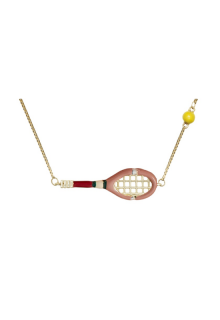 【ALIITA】アリータ ネックレス《SCIENTIFIC MATCH POINT》イエローゴールド テニスラケット&テニスボール ピンク イエロー