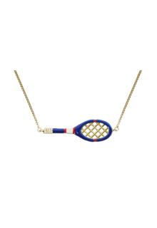 【ALIITA】アリータ ネックレス《SCIENTIFIC MATCH POINT》イエローゴールド テニスラケット&テニスボール ブルー イエロー