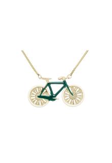 【ALITA】アリータ ネックレス《PURA》イエローゴールド 自転車 ディープグリーン