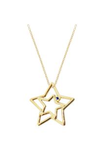 【ALITA】アリータ ネックレス《PURA》イエローゴールド ブルーサファイヤ スター 星