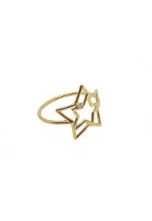 【ALIITA】アリータ リング《PURA》イエローゴールド ホワイトダイヤモンド スター