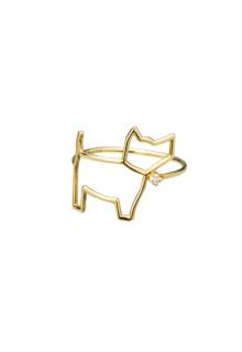 【ALITA】リング《PURA》イエローゴールド ダイヤモンド 犬