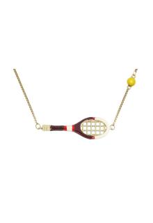 【ALITA】アリータ ネックレス《SCIENTIFIC MATCH POINT》ブラックテニスラケット