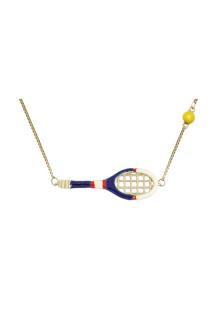 【ALITA】アリータ ネックレス《SCIENTIFIC MATCH POINT》ブルー&ホワイト テニスラケット