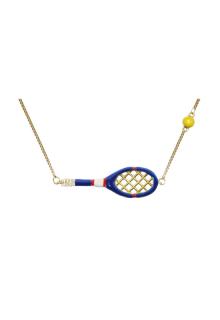 【ALITA】アリータ ネックレス《SCIENTIFIC MATCH POINT》ブルー テニスラケット