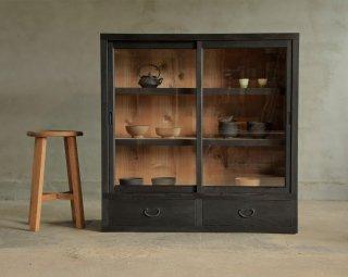 黒食器棚/収納棚